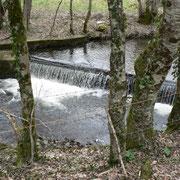 Seuil en aval du moulin de Blanchy