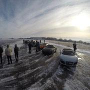 Rennstrecken bzw. Flugplatz Winter Fahrertraining