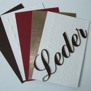 Kunststoffplatten in Lederoptik