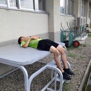 長井トライアスロン 疲れ果てた長田