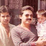 Syed Aslam Maharaj with Syed Akram Maharaj and Syed Azam Maharaj in Surat1982