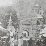 Rare Photo of Dargah Bazar entrance before the construction of Nizam Gate