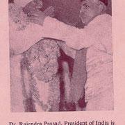 Syed Yusuf Mia Maharaj with Dr.Rajender Prashad