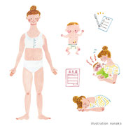 2018 リクルート 産後0ヶ月をのり切るための「Babyプラス」お医者さんがつくった産後ママのための本 挿絵