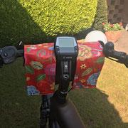 feewerk, Fahrradtaschen, Lenkertaschen, Fahrrad, Hollandrad, E-Bike Lenkertaschen, E-Bike, rot
