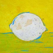 """""""limone"""" acrilici e segni a matita su carton legno  cm30x24"""