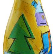 """""""colori per Mara"""" acrilici e tratti a matita su vetro"""