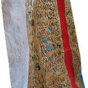 """""""sacchetto del pane"""" acrilici e segni a matita (lato a) cm17x31"""