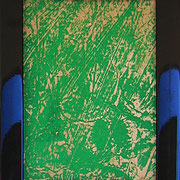 """""""ritagli di giornali sporchi di acrilici"""" cm16,5x21,5 (in vecchia cornicetta in legno) 2"""