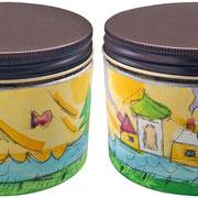 """""""biscotti per Elena"""" tratto a matita e acrilici su plastica cm7,5x7,5"""