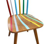 """""""ombre a colori"""" acrilici su sedia"""