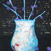 """""""...di Notte""""  colori acrilici su pezzo di cartone d'imballo cm22x31"""