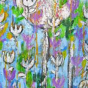 """""""ultimo fiore"""" acrilico su legno cm35x60"""