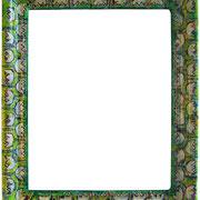 """""""cornice per specchio""""e matita colorata su carta su legnocm63x53"""