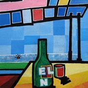 """solitudine con El Nos"" acrilico su cartoncino cm34x45 (prove di colore)"