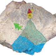 """""""sasso del brenta"""" (TN) acrilici su disegno inciso cm----"""
