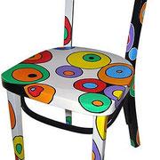 """""""sedia d'amare"""" acrilico su legno cm38x77"""