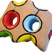 """""""mattone a colori"""" acrilico cm6x5"""