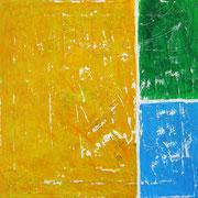 """""""spazi colorati"""" acrilici su tela ricoperta di stucco cm40x40"""