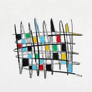 """""""tratto21"""" (c) acrilici e segni a matita su cartone cm12,5x17,5"""