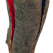 """""""Energia (dentro)""""acrilici su pezzo di legno di faggio appena tagliatocm5x25,5"""