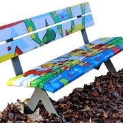 """""""la panchina del Cimirlo"""" acrilico su legno"""