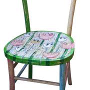 """""""Tulip"""" acrilici su vecchia sedia (1)"""