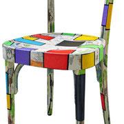 """""""toppe a colori per sedia""""acrilici sulegno"""