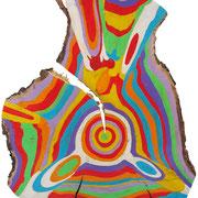 """""""anelli a Colori""""acrilici sulegno di pino cm20x29"""