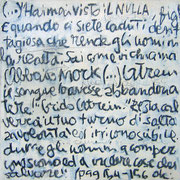 """""""Appunti sul Nulla"""" acrilici, carboncino e tratto a matita su tela (3) cm24x24 (3)"""