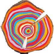 """""""anelli a Colori""""acrilici sulegno di pino 2 cm20x29"""