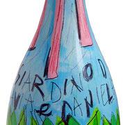 """""""Brindisi al nuovo"""" acrilici con rifinitura vernice all'acqua su vetro"""