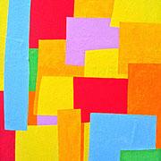 """""""Coperta colori"""" acrilico su carta su tela cm60x90"""