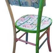 """""""Tulip"""" acrilici su vecchia sedia (2)"""