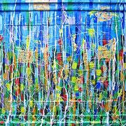 """""""il giardino degli esclusi"""" acrilico su vecchia cornice cm68x54"""