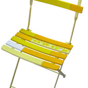 """""""La sedia di Valentina"""" acrilici su struttura in ferro e legno"""