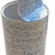 """""""scritte"""" matita su colore acrilico cm15,5x7,5"""