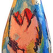 ...acrilici su vetro e tratto in carboncino