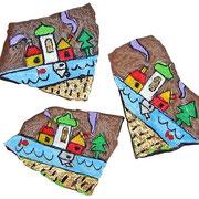 sassetti su scaglie di roccia del Brenta (TN)
