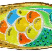 """""""""""osso di seppia"""" acrilici e vernice cm4x10"""