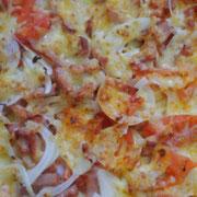 石釜のおかげで、ピザ美味しくできました