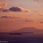 南ヶ山園地から新島・式根島・神津島を眺める