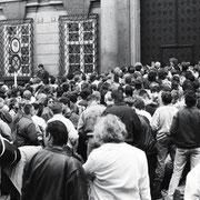 geschlossene Prager Botschaft am 4. Oktober 1989