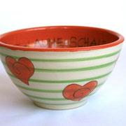 """Keramikschüssel """"Herzchen"""" 17 €/ Artikel-Nr. 7030"""