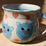Katzentasse für Kinder, Größe: Maxi, rund/ Bestell-Nr. 5022, Preis: 15,- €
