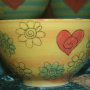 """Müslischale """"Blume""""  17 €/ Artikel - Nr. 7007"""