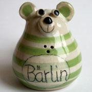 """Salzstreuer """"Bärlin"""" speziell für Berlin-Fans/ Farbe: hellgrün/ Bestell-Nr. 2404/Preis 14,- €"""