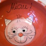 Katzenfutternapf rot 15,- €  Bestell - Nr. 3000