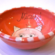Katzenfutternapf rot 16,- €  Bestell - Nr. 3000