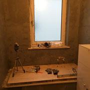 Isolieren von Wänden im Duschbereich nach DIN Vorschrift